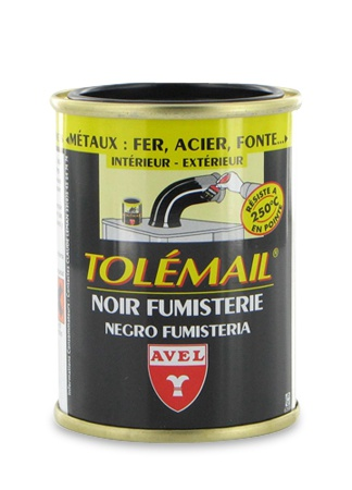 peinture tolemail noir fumisterie haute temp rature valmour. Black Bedroom Furniture Sets. Home Design Ideas